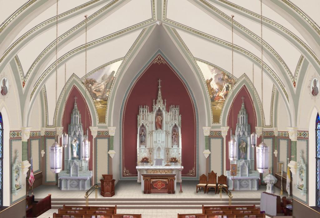 Proposed interior design.