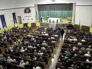 View of the crowd on Night 3 of the Parish Mission