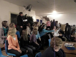 Night 3 of the Parish Mission CCD Students gathered in the balcony